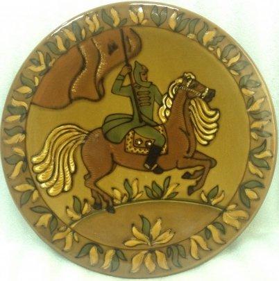 Декоративная тарелка «Буденовец» ЛКСФ 1960 е - Декоративная тарелка «Буденовец» ЛКСФ