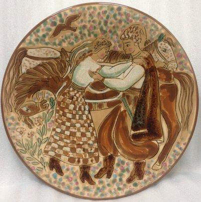 Декоративная тарелка «Наречена» ЛКСФ 1960 е - Декоративная тарелка «Наречена» ЛКСФ