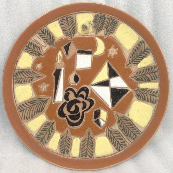 Декоративная тарелка «Новогодний натюрморт» ЛКСФ 1950 е - Декоративная тарелка «Новогодний натюрморт» ЛКСФ