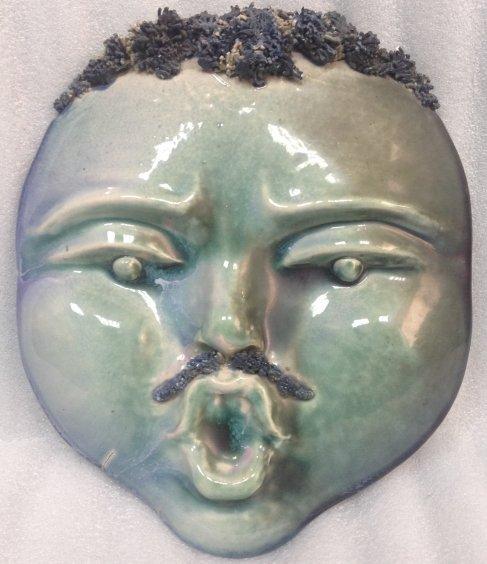 Декоративная лепка-маска «Мим» ЛКСФ  1980 е - Декоративная лепка-маска «Мим» ЛКСФ