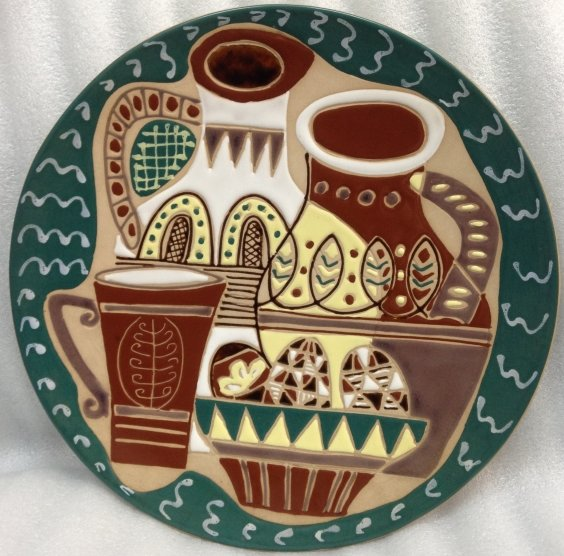 Декоративная тарелка «Пасхальный натюрморт» ЛКСФ 1960 е - Декоративная тарелка «Пасхальный натюрморт» ЛКСФ