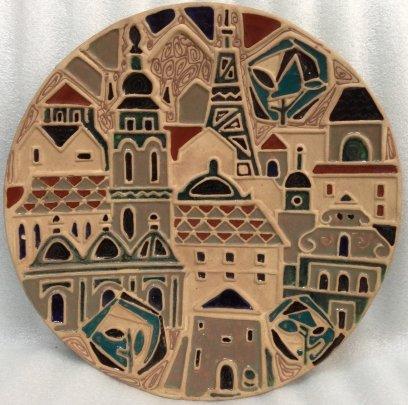 Декоративная тарелка «Львов» ЛКСФ 1970 е - Декоративная тарелка «Львов» ЛКСФ