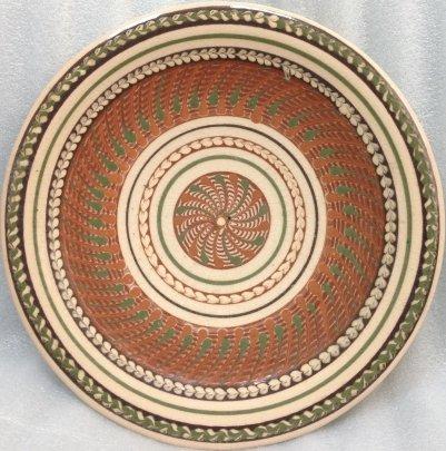 Декоративная тарелка «Круговой узор» ЛКСФ 1970 е - Декоративная тарелка «Круговой узор» ЛКСФ