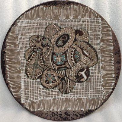 Декоративная тарелка «Пасхальный натюрморт» ЛКСФ 1970 е - Декоративная тарелка «Пасхальный натюрморт» ЛКСФ
