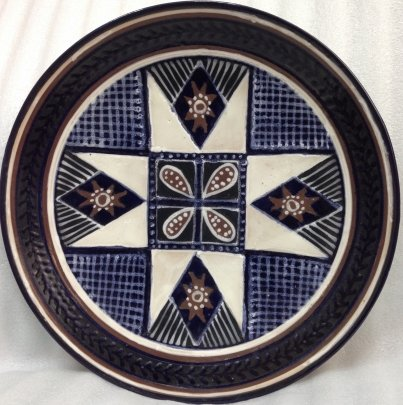 Декоративная тарелка «Узор» ЛКСФ 1960 е - Декоративная тарелка «Узор» ЛКСФ