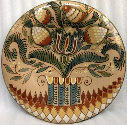 Декоративная тарелка «Сказочный Вазон» ЛКСФ 1960 е - Декоративная тарелка «Сказочный Вазон» ЛКСФ