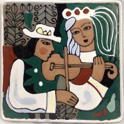 Декоративное панно «Жених и невеста» ЛКСФ 1970 е - Декоративное панно «Жених и невеста» ЛКСФ