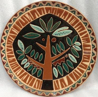 Декоративная тарелка «Дерево» ЛКСФ 1960 е - Декоративная тарелка «Дерево» ЛКСФ