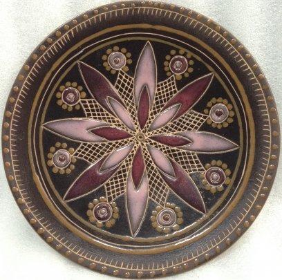 Декоративная тарелка «Узор» ЛКСФ 1970 е - Декоративная тарелка «Узор» ЛКСФ