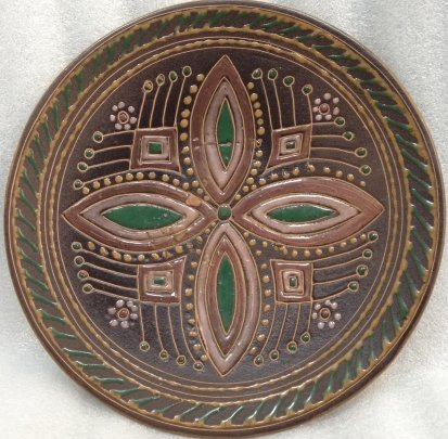 Декоративна тарелка «Узор» ЛКСФ 1970 е - Декоративна тарелка «Узор» ЛКСФ