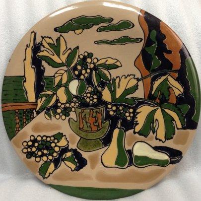 Декоративная тарелка «Натюрморт на фоне моря» ЛКСФ 1970 е - Декоративная тарелка «Натюрморт на фоне моря» ЛКСФ