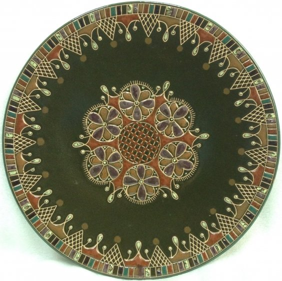 Декоративная тарелка «Орнамент» ЛКСФ 1970 е - Декоративная тарелка «Орнамент» ЛКСФ