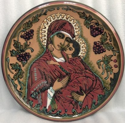 Декоративная тарелка Матерь Божья» ЛКСФ 1980 е - Кичула Григорий Федорович