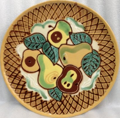Декоративная тарелка «Натюрморт с фруктами» ЛКСФ 1970 е - Декоративная тарелка «Натюрморт с фруктами» ЛКСФ