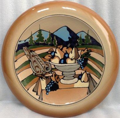 Декоративная тарелка «Натюрморт на столе» ЛКСФ 1970 е - Декоративная тарелка «Натюрморт на столе» ЛКСФ
