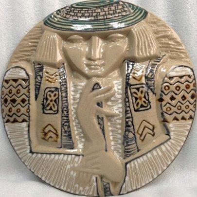 Декоративная тарелка «Гуцул» ЛКСФ 1970 е - Декоративная тарелка «Гуцул» ЛКСФ