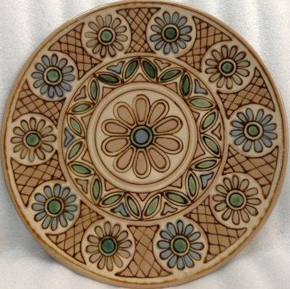 Декоративная тарелка «Круговой орнамент» ЛКСФ 1970 е - Декоративная тарелка «Круговой орнамент» ЛКСФ