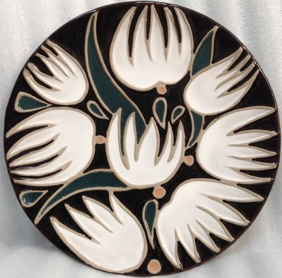 ЛКСФ Декоративная тарелка «Лилии» 1970 е - ЛКСФ Декоративная тарелка «Лилии»