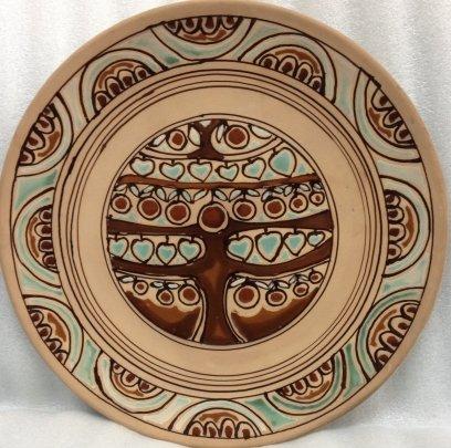 ЛКСФ Декоративная тарелка «Дерево» 1970 е - ЛКСФ Декоративная тарелка «Дерево»