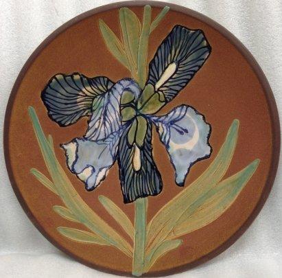 ЛКСФ Декоративная тарелка «Ирис» 1970 е - ЛКСФ Декоративная тарелка «Ирис»