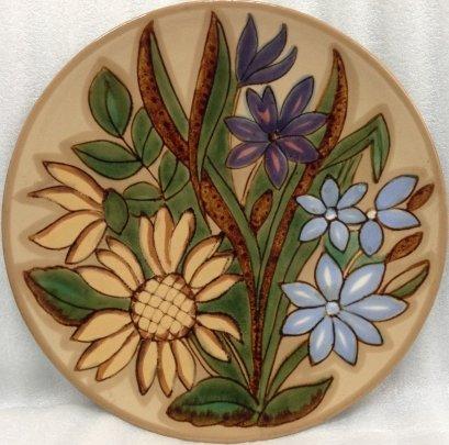 ЛЭКСФ Декоративная тарелка «Цветы» 1970 е - ЛЭКСФ Декоративная тарелка «Цветы»