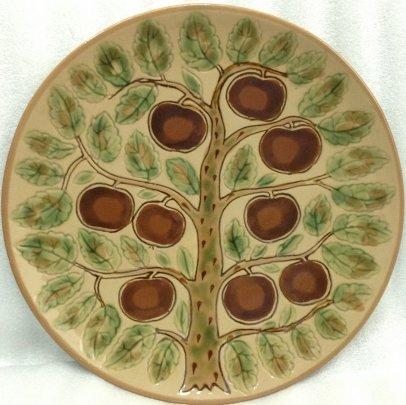 ЛКСФ Декоративная тарелка «Яблоня» 1970 е - ЛКСФ Декоративная тарелка «Яблоня»
