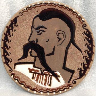 ЛКСФ Декоративная тарелка «Запорожец» 1960 е - ЛКСФ Декоративная тарелка «Запорожец»