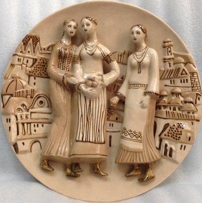 ЛКСФ Декоративная тарелка «Украинки» 1970 е - ЛКСФ Декоративная тарелка «Украинки»