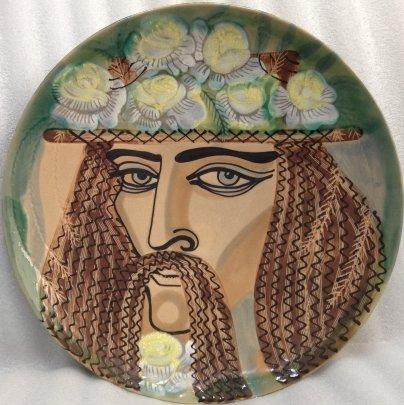 ЛКСФ Декоративная тарелка «Гуцул» 1960 е - ЛКСФ Декоративная тарелка «Гуцул»