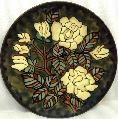ЛКСФ Декоративная тарелка «Розы» 1970 е - ЛКСФ Декоративная тарелка «Розы»