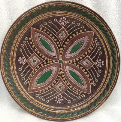 ЛКСФ Декоративная тарелка «Узор» 1960 е - ЛКСФ Декоративная тарелка «Узор»