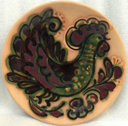 ЛКСФ Декоративная тарелка «Петух» 1970 е - ЛКСФ Декоративная тарелка «Петух»