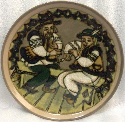ЛЭКСФ Декоративная тарелка «Музыканты» 1970 е - ЛЭКСФ Декоративная тарелка «Музыканты»