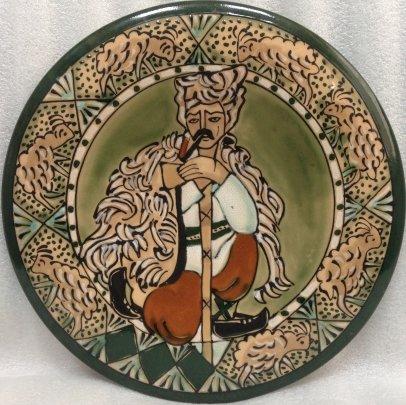 ЛЭКСФ Декоративная тарелка «Пастух» 1970 е - ЛЭКСФ Декоративная тарелка «Пастух»