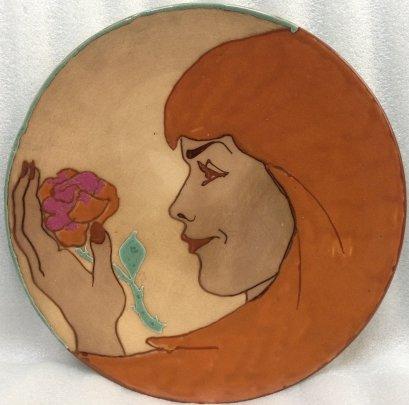 ЛКСФ Декоративная тарелка «Роза» 1970 е - ЛКСФ Декоративная тарелка «Роза»