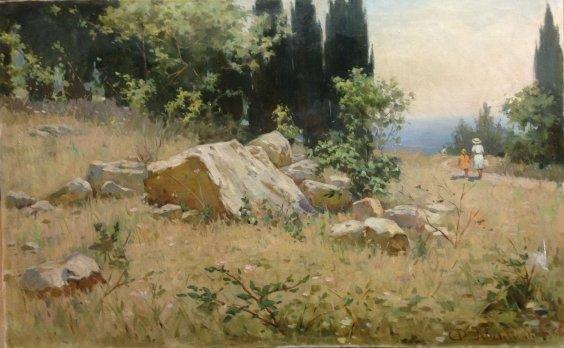 """Crimean landscape-July""-Kalmykov Fedor Batyrbekovich"
