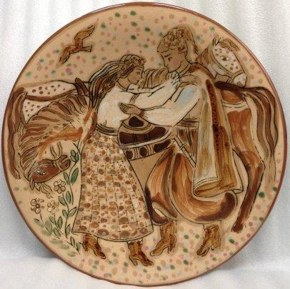 ЛКСФ Декоративная тарелка «Свидание» 1970 е - ЛКСФ Декоративная тарелка «Свидание»