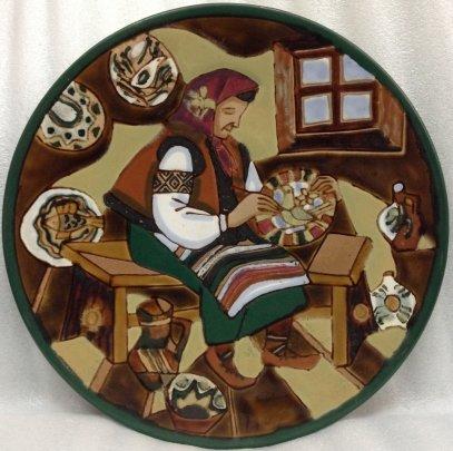 ЛКСФ Декоративная тарелка «Народное творчество» 1970 е - ЛКСФ Декоративная тарелка «Народное творчество»