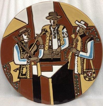 ЛКСФ Декоративная тарелка «Веселые Музыканты» 1970 е - ЛКСФ Декоративная тарелка «Веселые Музыканты»