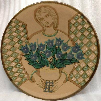 ЛКСФ Декоративная тарелка «Цветы на окне» 1970 е - ЛКСФ Декоративная тарелка «Цветы на окне»