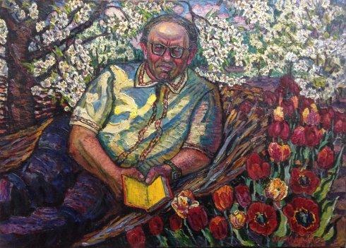 """Portrait """"Yuri Yakovlevich Lisnyak-translator and artist"""" 1982 - Lytvyn Leonid Grigorievich"""