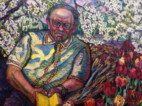 """Portrait """"Yuri Yakovlevich Lisnyak-translator and artist""""-Lytvyn Leonid Grigorievich"""