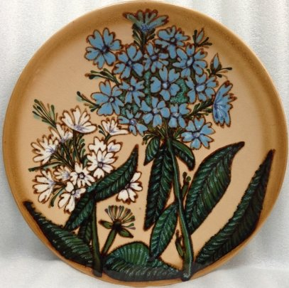 ЛКСФ Декоративная тарелка «Цветы» 1970 е - ЛКСФ Декоративная тарелка «Цветы»