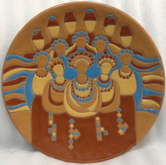 ЛКСФ Декоративная тарелка «Украинцы» 1983 - ЛКСФ Декоративная тарелка «Украинцы»