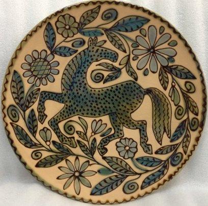 ЛКСФ Декоративная тарелка «Лошадь» 1970 е - ЛКСФ Декоративная тарелка «Лошадь»