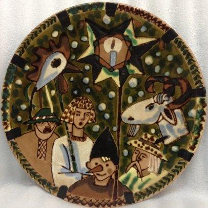 ЛКСФ Декоративная тарелка «Колядки» 1970 е - ЛКСФ Декоративная тарелка «Колядки»