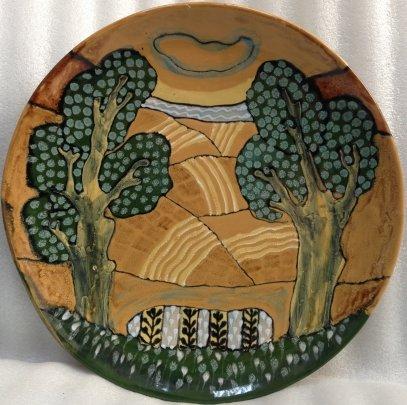 ЛКСФ Декоративная тарелка «Два Дуба» 1970 е - ЛКСФ Декоративная тарелка «Два Дуба»