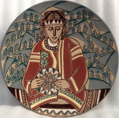 ЛКСФ Декоративная тарелка «Гуцул» 1970 е - ЛКСФ Декоративная тарелка «Гуцул»