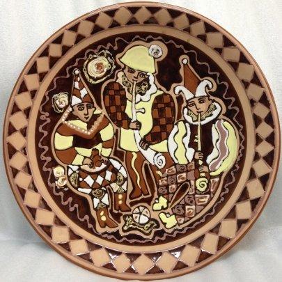 ЛКСФ Декоративная тарелка «Клоуны» 1970 е - ЛКСФ Декоративная тарелка «Клоуны»