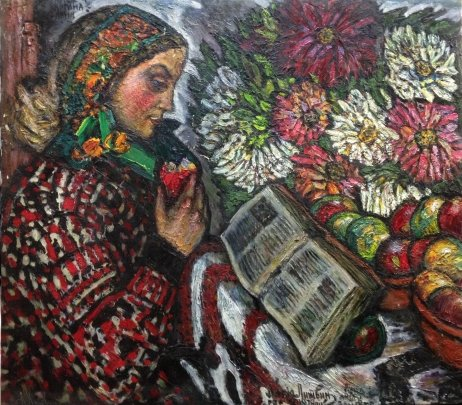 """My Anna flowers, Van Gogh sheets"" 1978 - Lytvyn Leonid Grigorievich"
